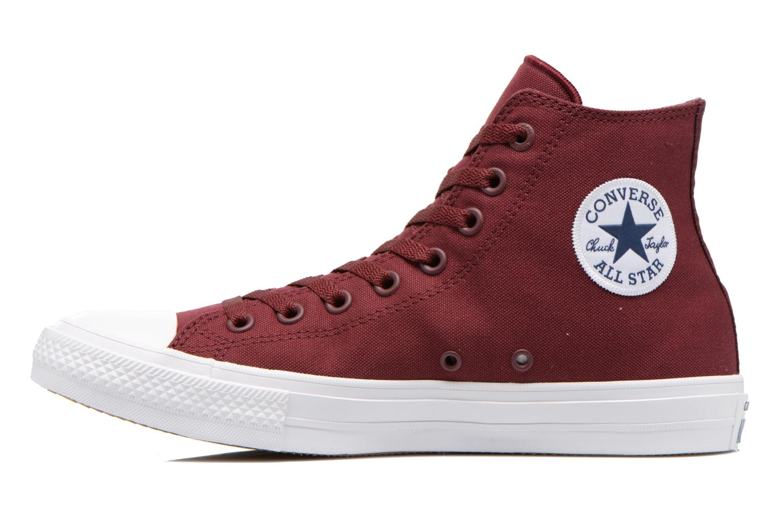 Trainers Converse Chuck Taylor All Star II Hi M Burgundy front view
