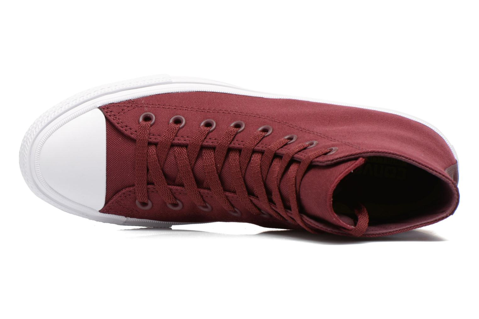 Trainers Converse Chuck Taylor All Star II Hi M Burgundy view from the left
