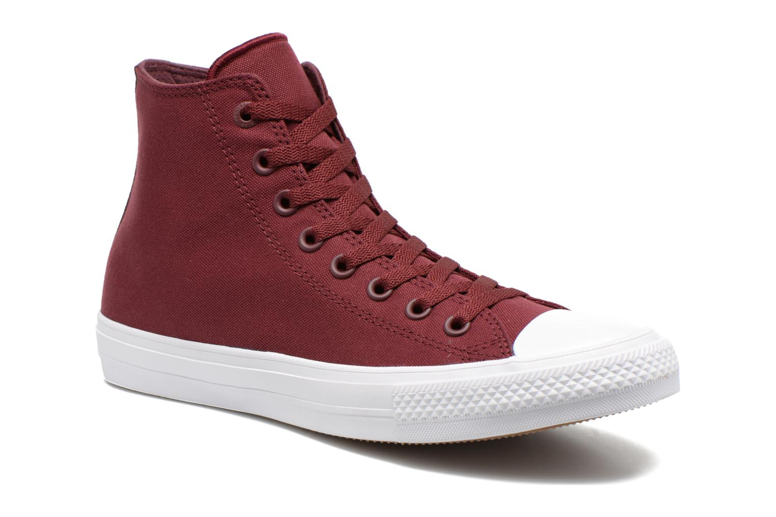 Trainers Converse Chuck Taylor All Star II Hi M Burgundy detailed view/ Pair view