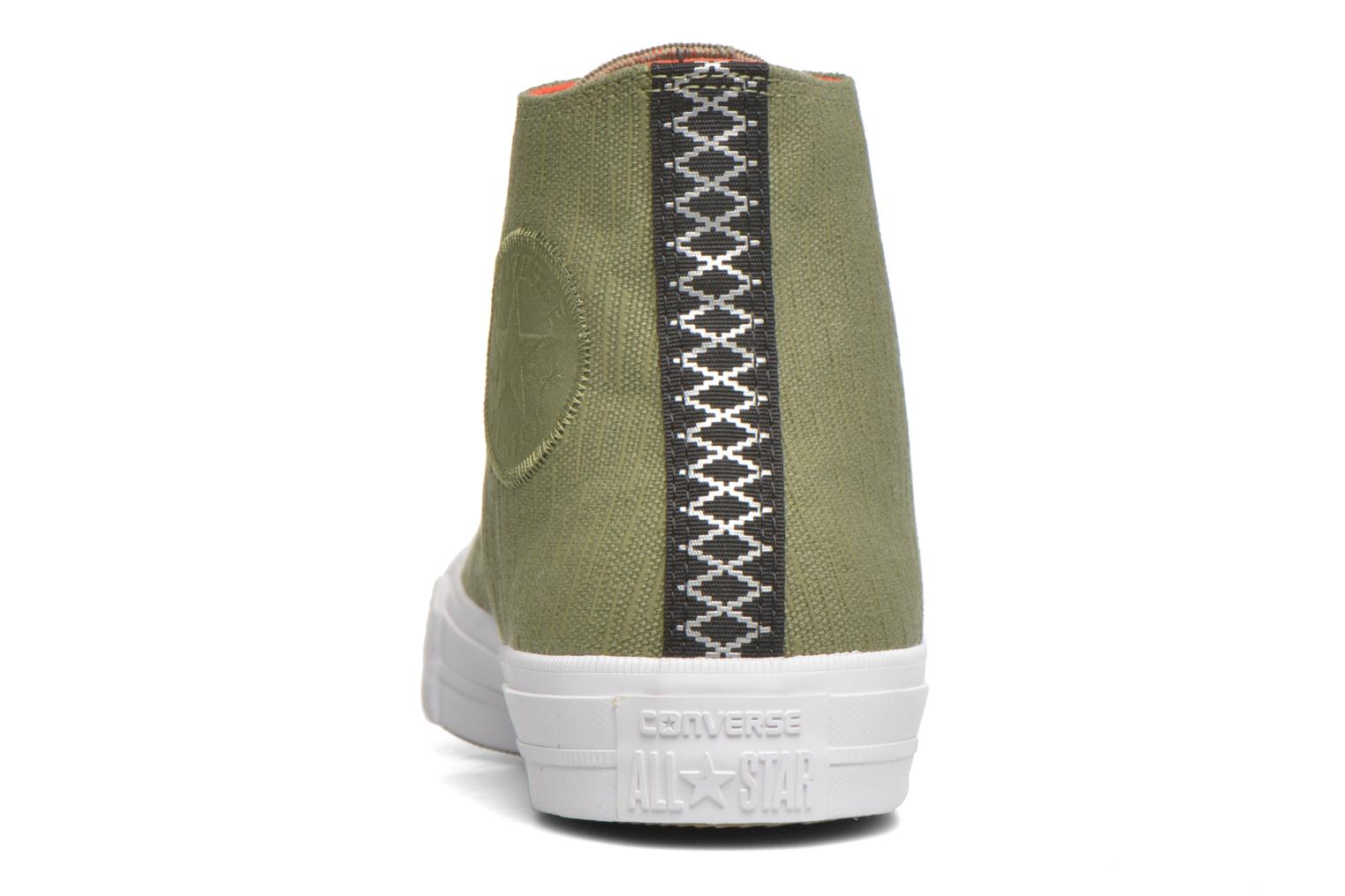 Chuck Taylor All Star II Hi M Fatigue Green/Signal Red