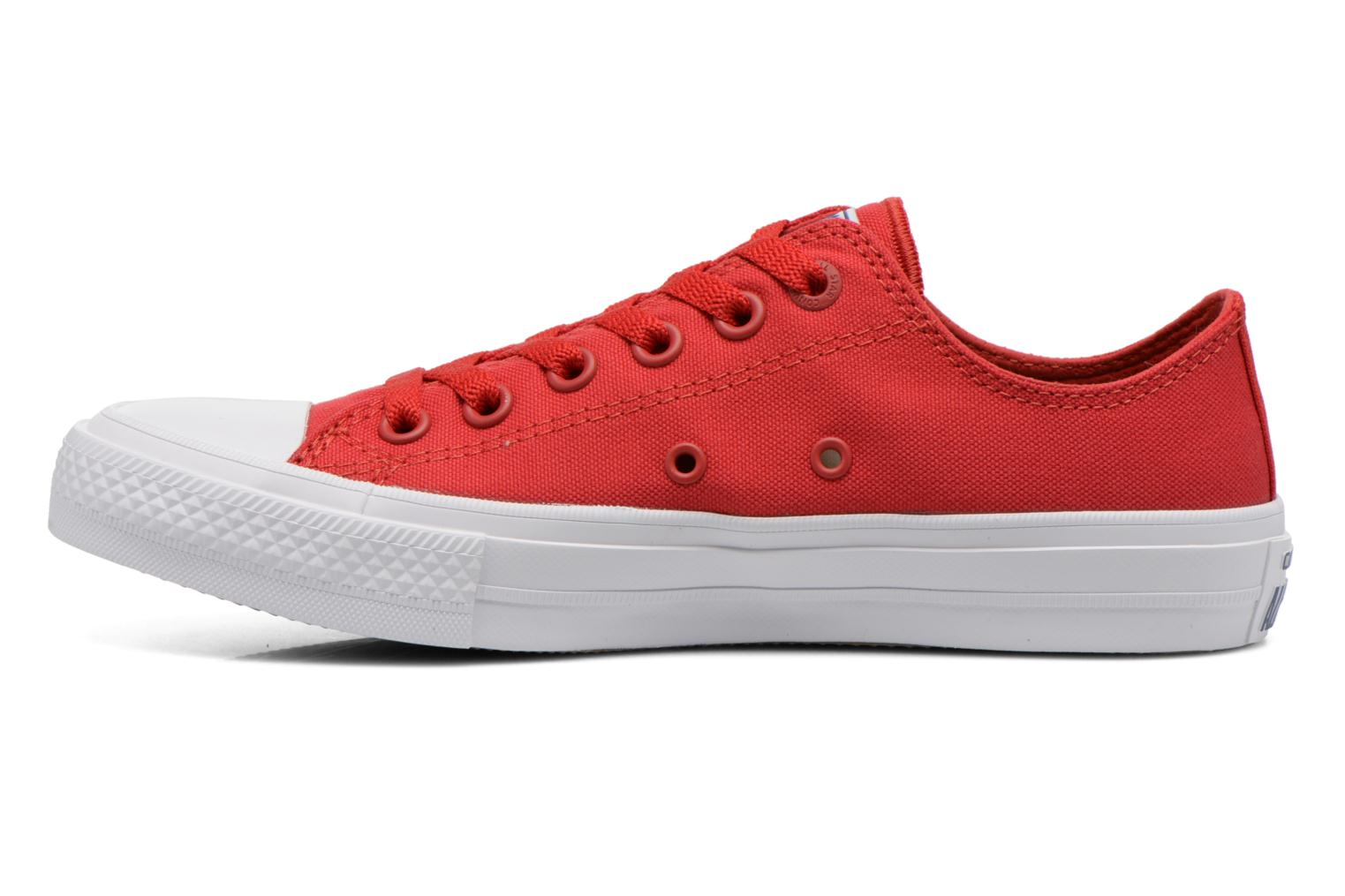 Baskets Converse Chuck Taylor All Star II Ox M Rouge vue face