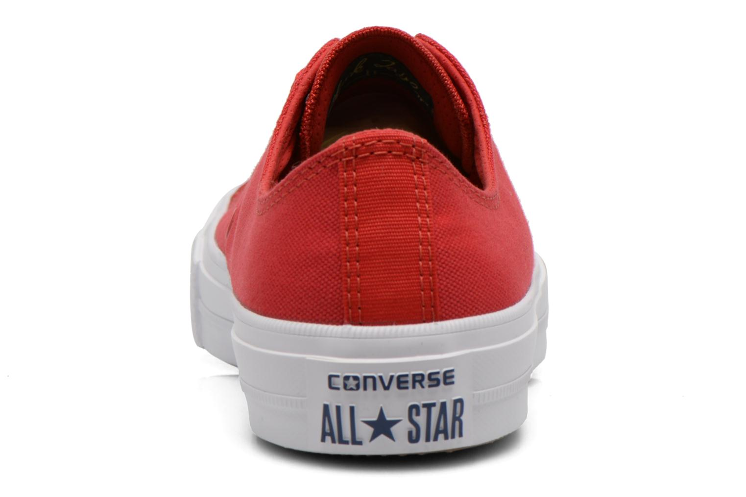 Trainers Converse Chuck Taylor All Star II Ox M Red view from the right