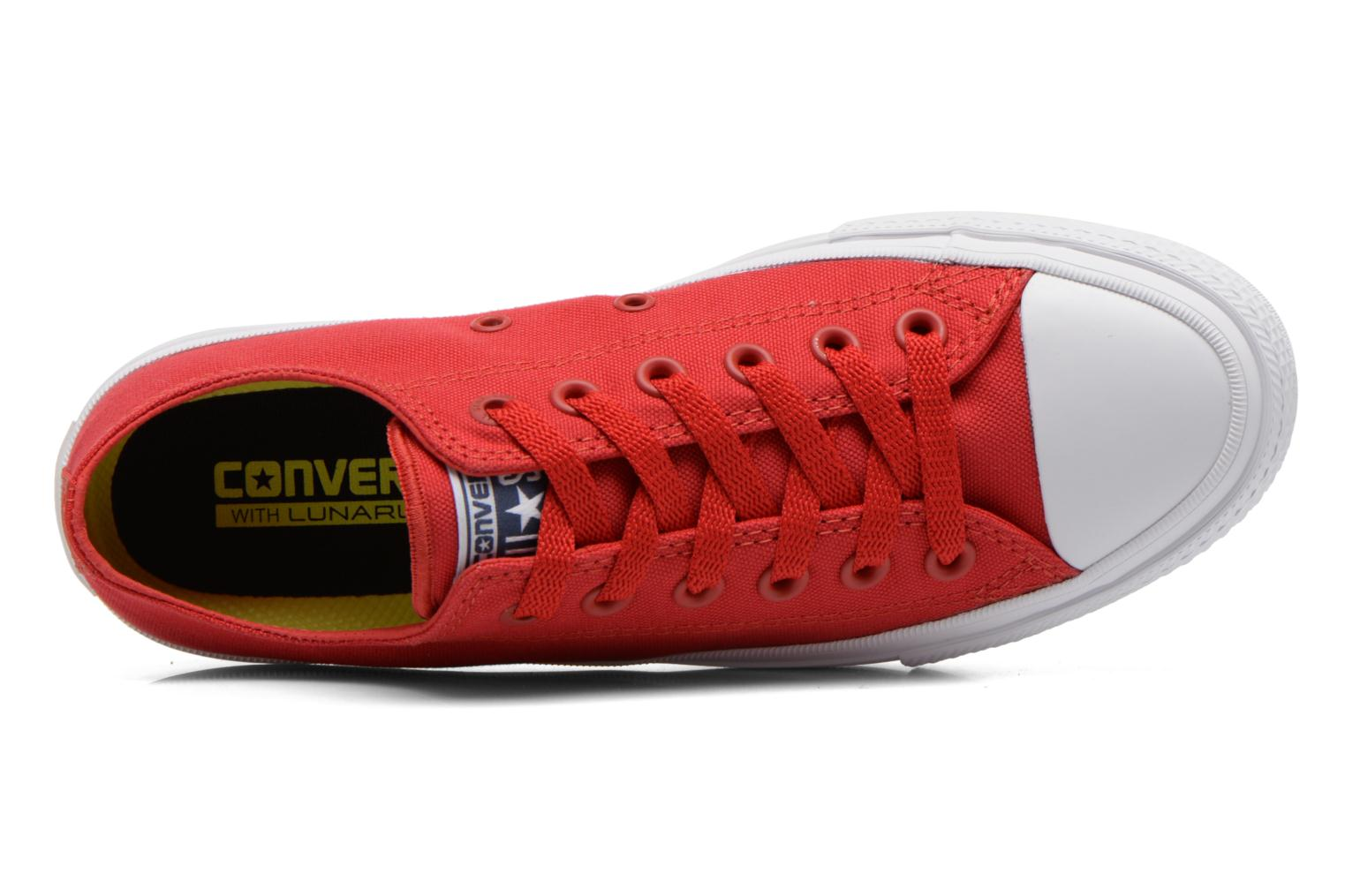 Trainers Converse Chuck Taylor All Star II Ox M Red view from the left