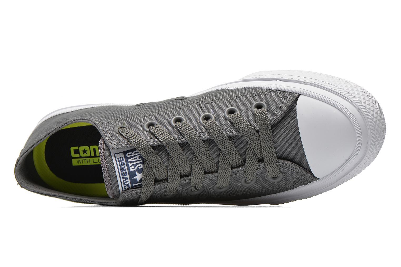 Sneaker Converse Chuck Taylor All Star II Ox M grau ansicht von links