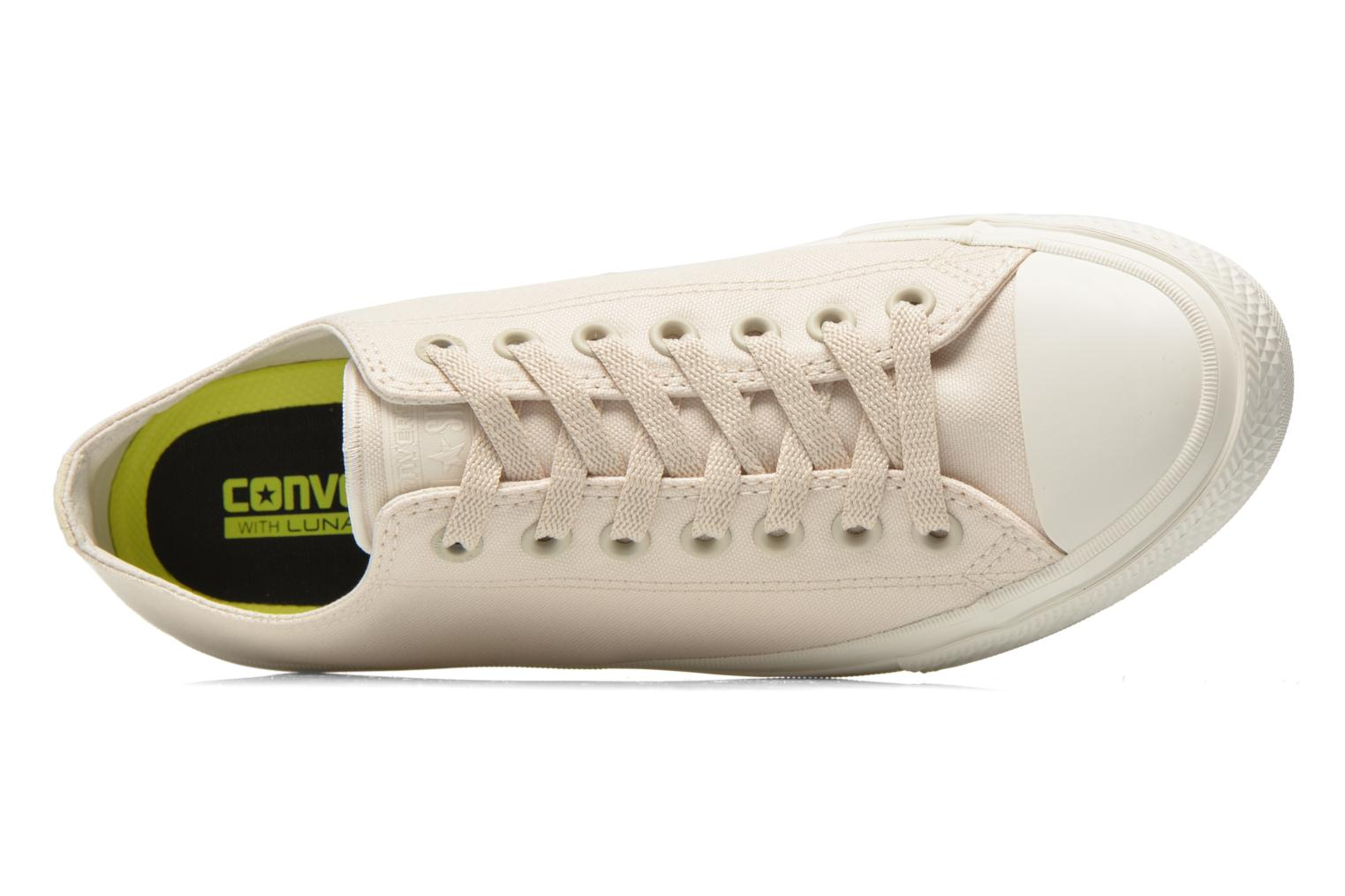 Trainers Converse Chuck Taylor All Star II Ox M Beige view from the left