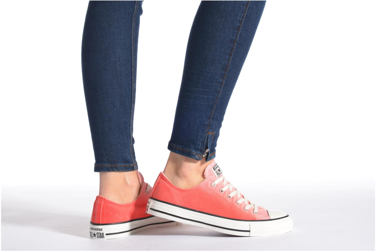 Trainers Converse Chuck Taylor All Star Ox Sunset Wash W Blue view from underneath / model view