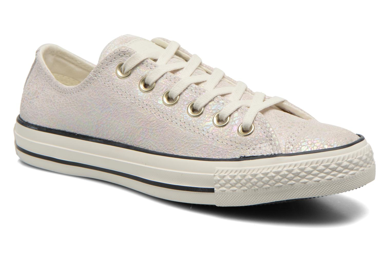 Baskets Converse Chuck Taylor All Star Ox Oil Slick Leather W Blanc vue détail/paire