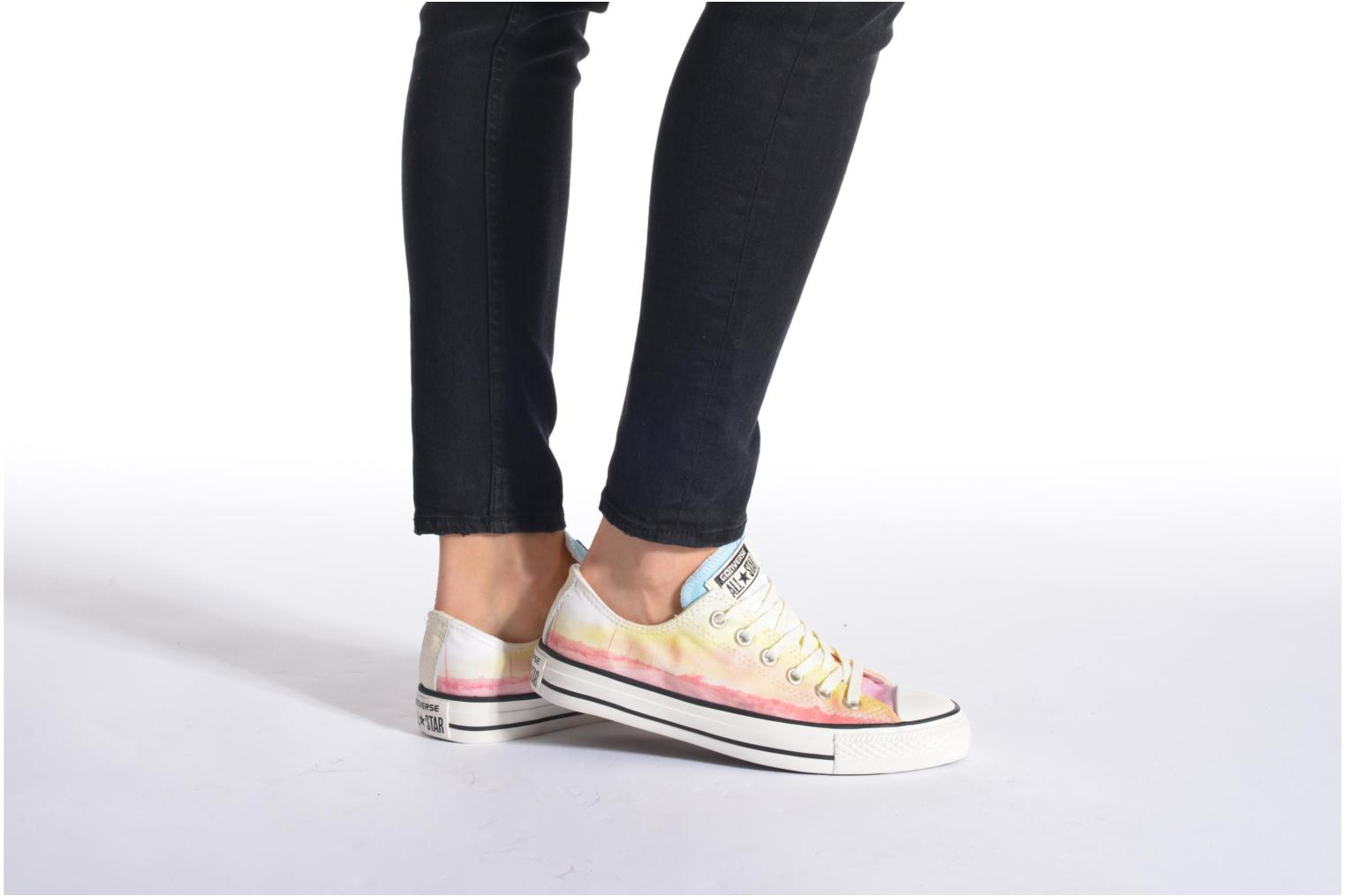 Trainers Converse Chuck Taylor All Star Ox Photo Real Sunset W Multicolor view from underneath / model view