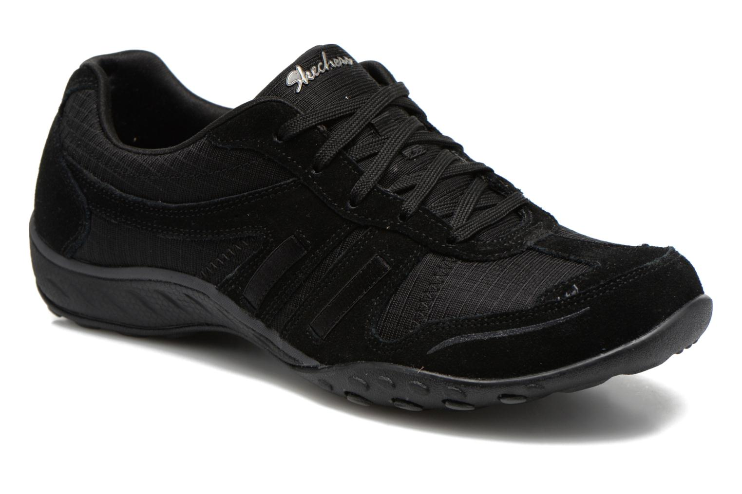 Baskets Skechers Breathe-Easy - Jackpot 22532 Noir vue détail/paire
