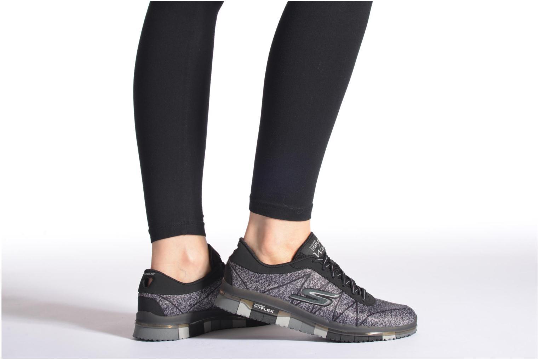 Sportschuhe Skechers Go Flex - Ability 14011 grau ansicht von unten / tasche getragen
