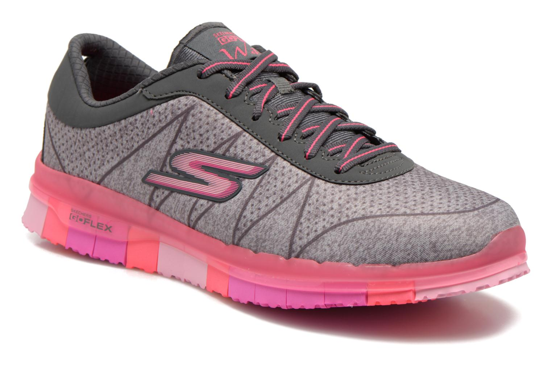 Sport shoes Skechers Go Flex - Ability 14011 Grey detailed view/ Pair view