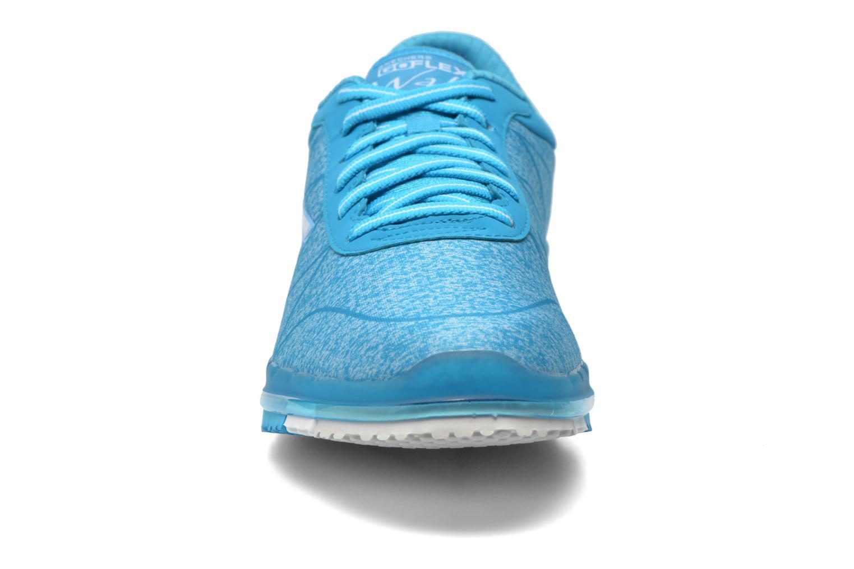 Scarpe sportive Skechers Go Flex - Ability 14011 Azzurro modello indossato