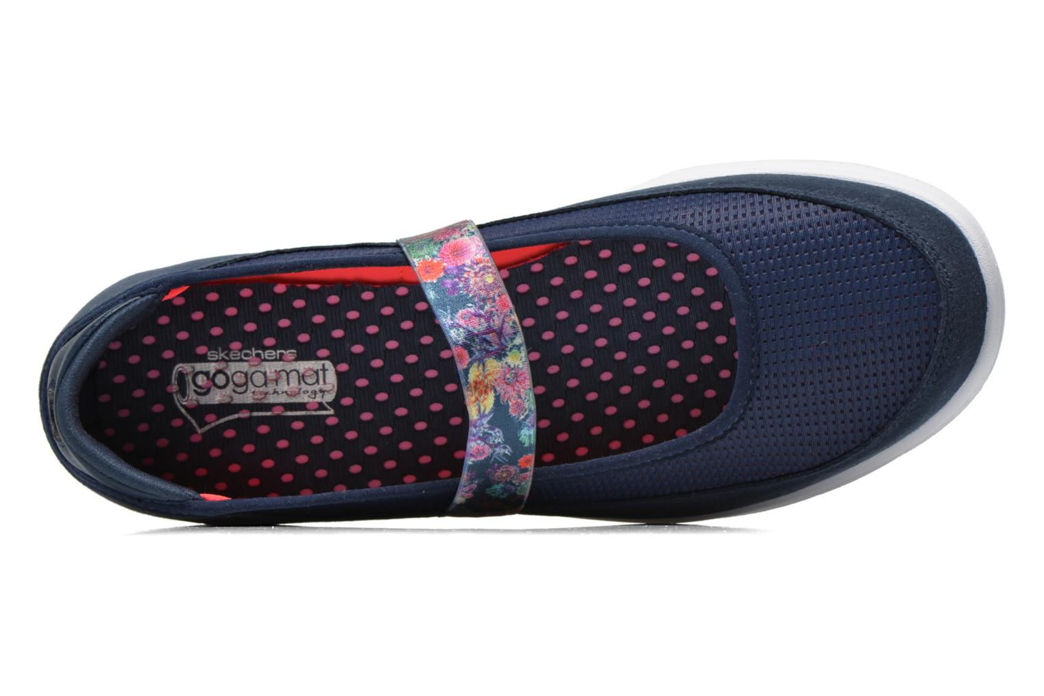 Ballet pumps Skechers Go Step - Bloom 14214 Blue view from the left