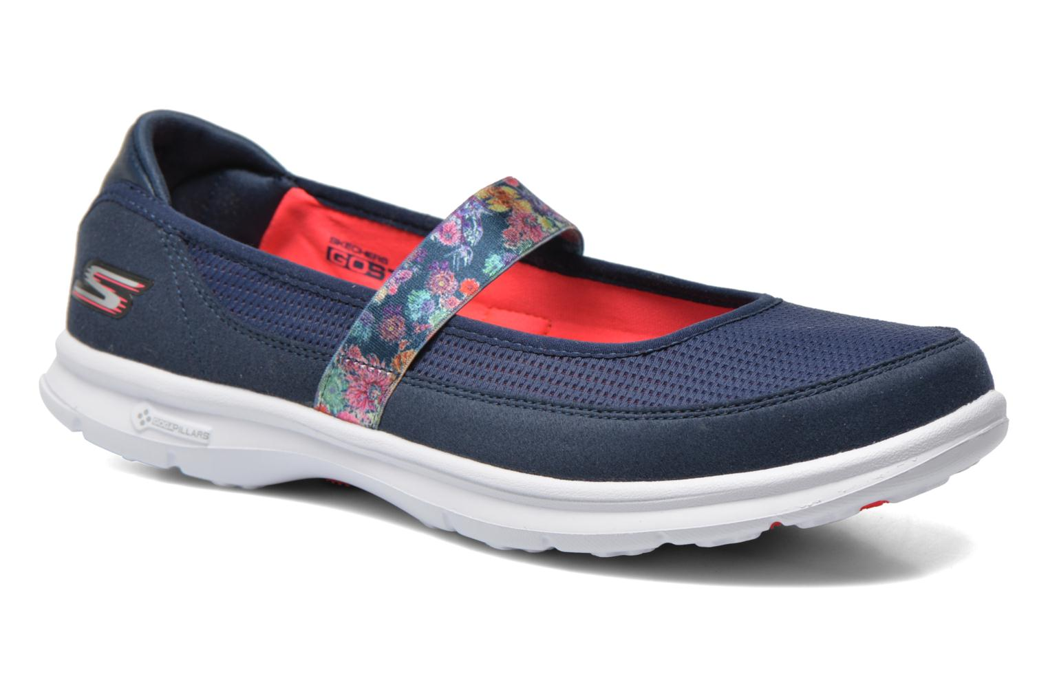 Bailarinas Skechers Go Step - Bloom 14214 Azul vista de detalle / par