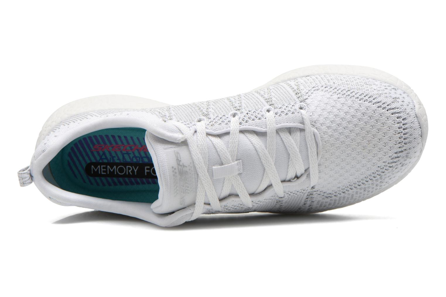 Sport shoes Skechers Burst - First Glimpse 12438 White view from the left