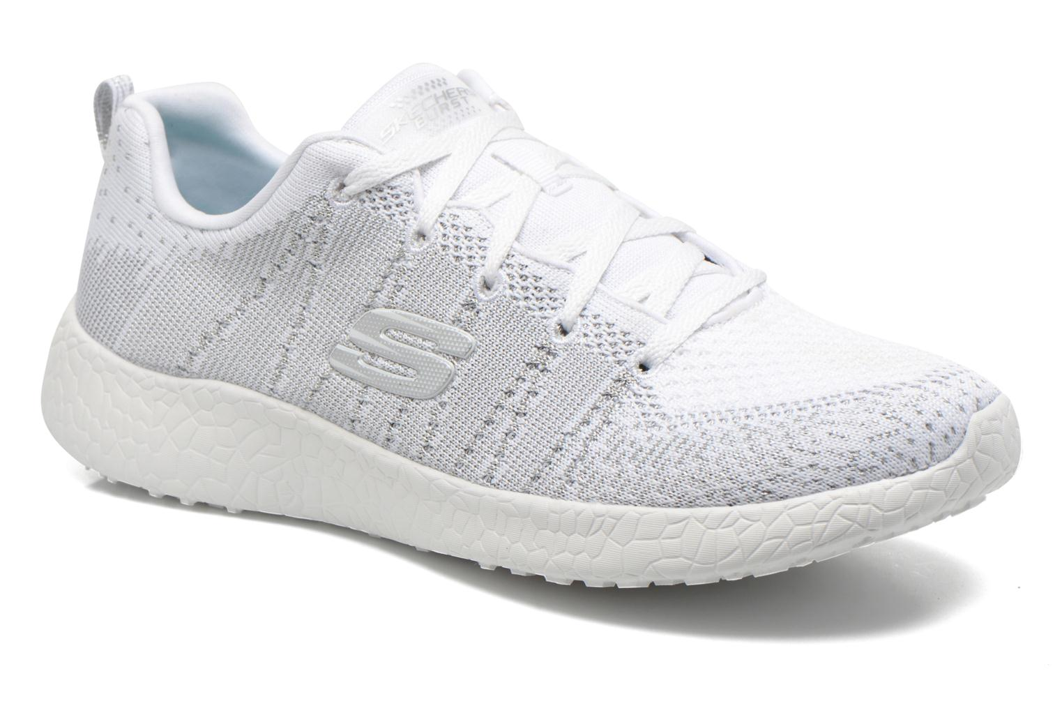 Sport shoes Skechers Burst - First Glimpse 12438 White detailed view/ Pair view