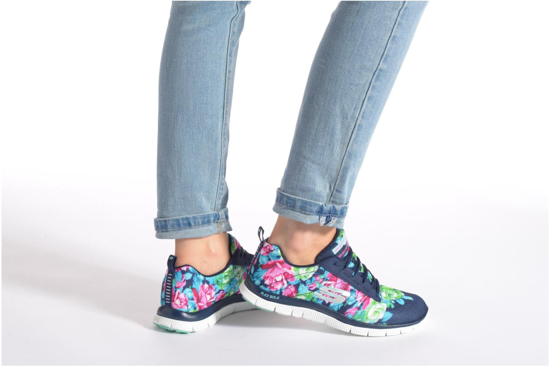 Chaussures de sport Skechers Flex Appeal- Wildflowers 12448 Vert vue bas / vue portée sac