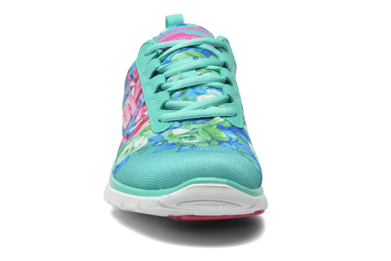 Zapatillas de deporte Skechers Flex Appeal- Wildflowers 12448 Verde vista del modelo