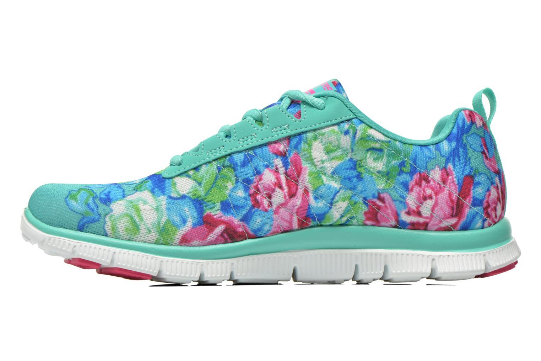 Scarpe sportive Skechers Flex Appeal- Wildflowers 12448 Verde immagine frontale