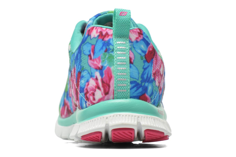 Scarpe sportive Skechers Flex Appeal- Wildflowers 12448 Verde immagine destra