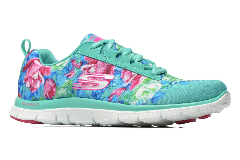 Chaussures de sport Skechers Flex Appeal- Wildflowers 12448 Vert vue derrière