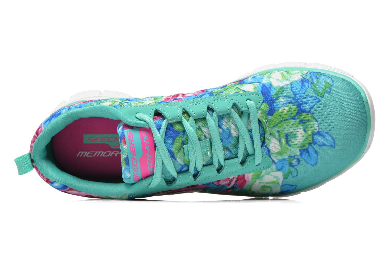 Scarpe sportive Skechers Flex Appeal- Wildflowers 12448 Verde immagine sinistra