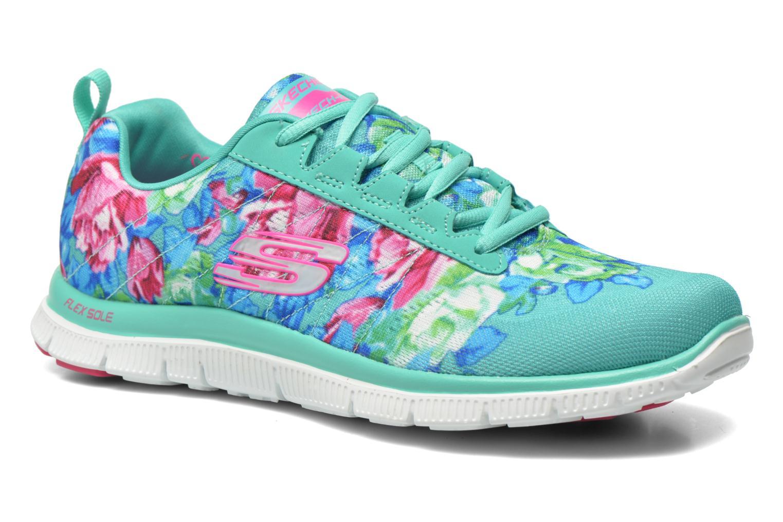 Chaussures de sport Skechers Flex Appeal- Wildflowers 12448 Vert vue détail/paire