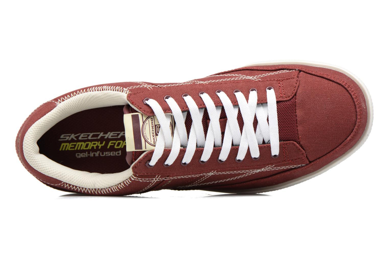 Deportivas Skechers Arcade- Chat Mf 51014 Rojo vista lateral izquierda
