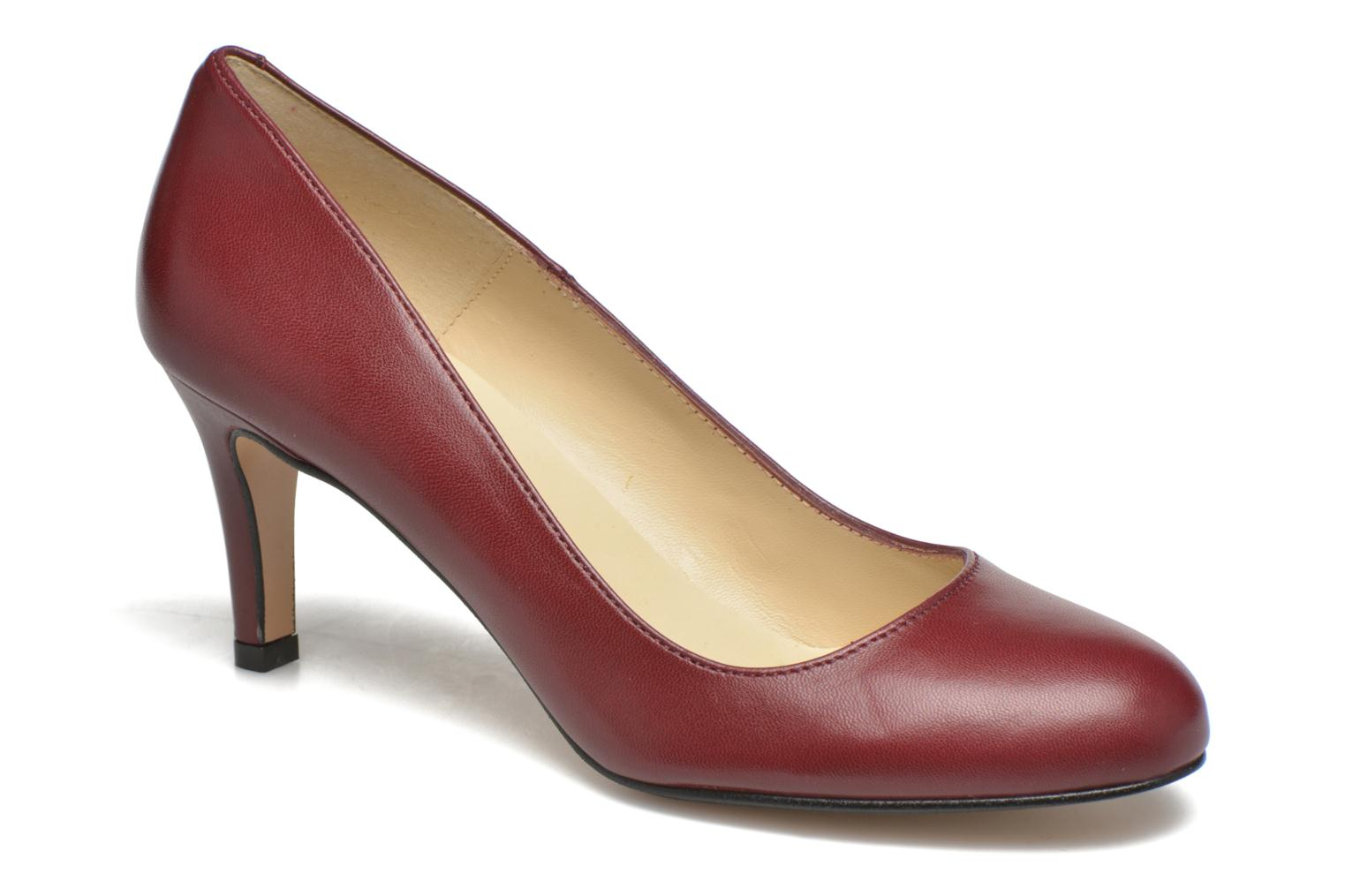 High heels Georgia Rose Selina Burgundy detailed view/ Pair view