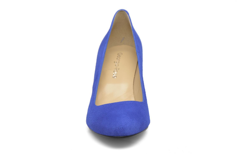 Selina cuir velours bleu