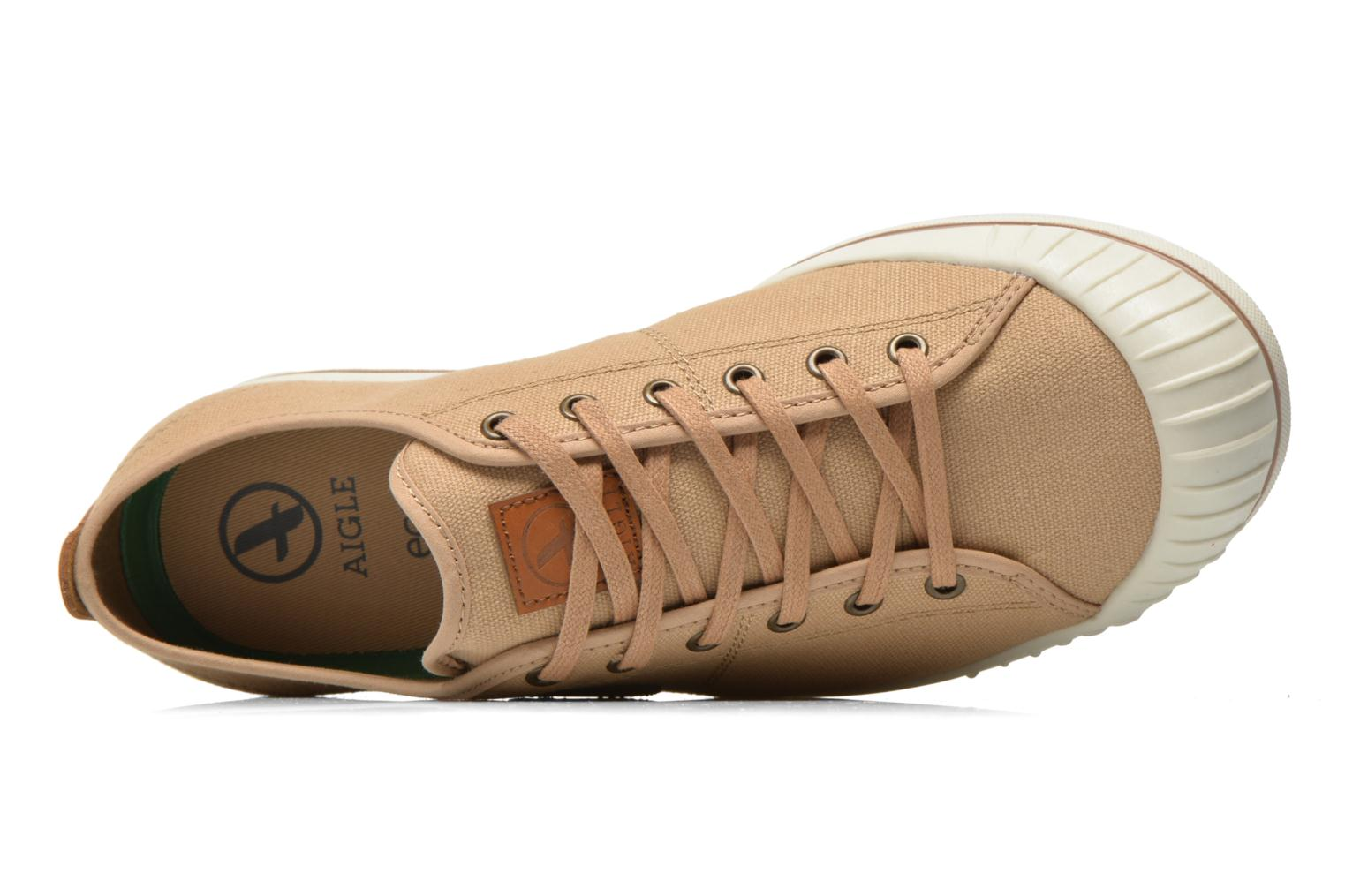 Trainers Aigle Kitangiri Beige view from the left