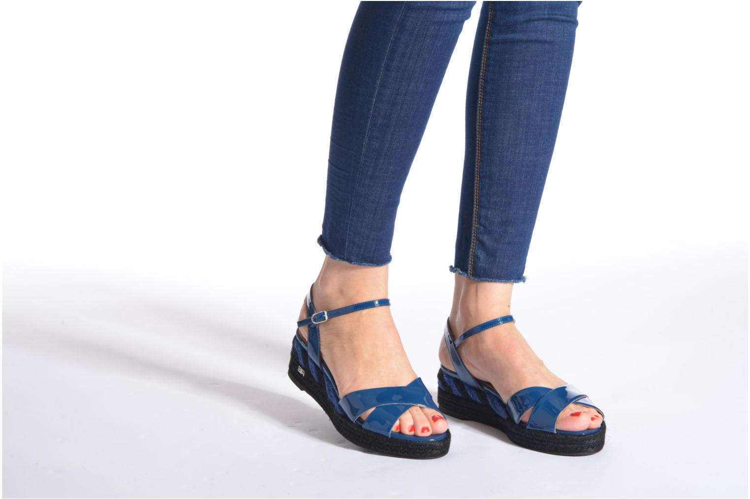 Sandals Sonia Rykiel Podium 2 Blue view from underneath / model view