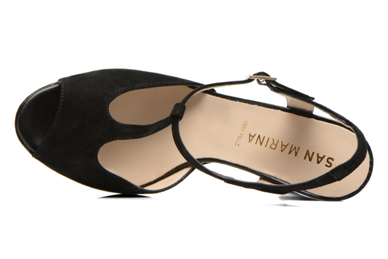 Sandales et nu-pieds San Marina Fontaine Noir vue gauche