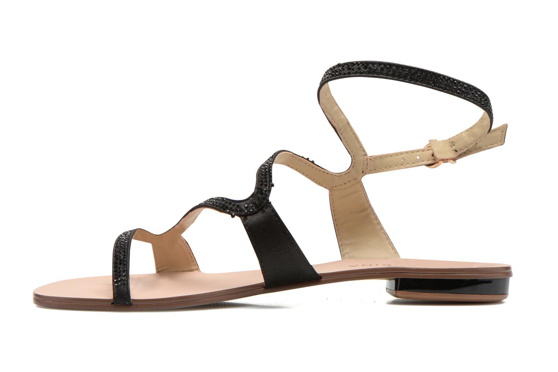 Sandales et nu-pieds San Marina Chapka Noir vue face
