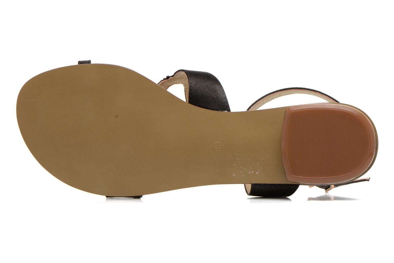 Sandales et nu-pieds San Marina Chapka Noir vue haut