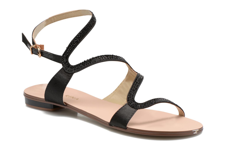 Sandales et nu-pieds San Marina Chapka Noir vue détail/paire