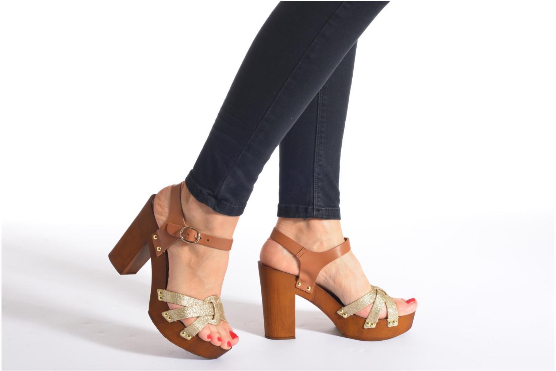 Sandals San Marina Debani/Glit Brown view from underneath / model view