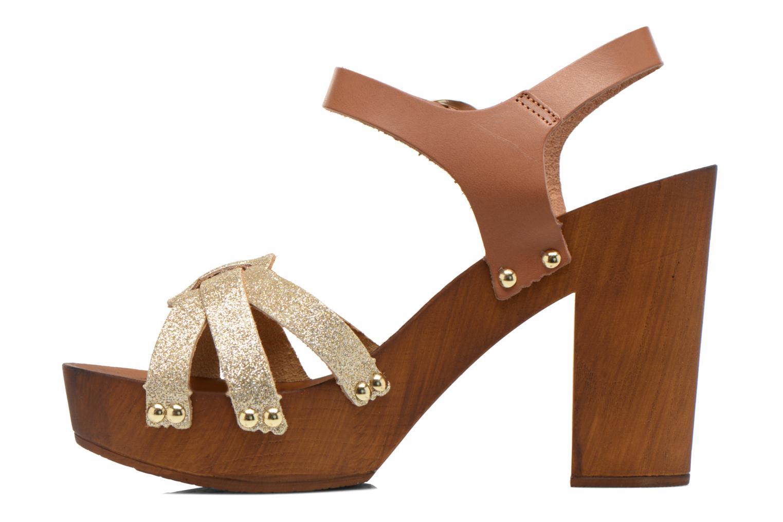 Sandals San Marina Debani/Glit Brown front view