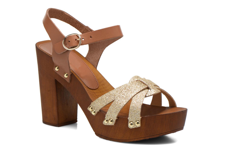 Sandals San Marina Debani/Glit Brown detailed view/ Pair view