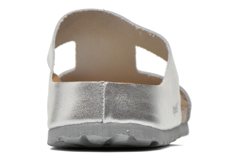 Charlize Cuir W Metallic Silver