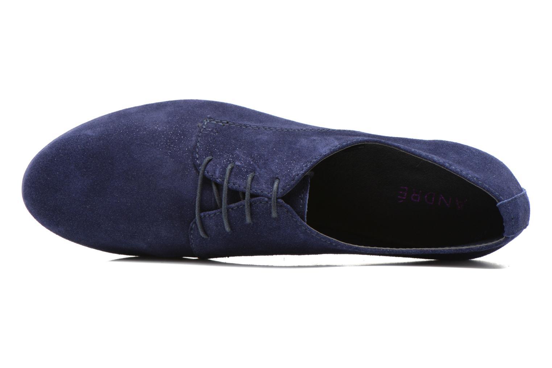 Chaussures à lacets André Fabuleux P Bleu vue gauche