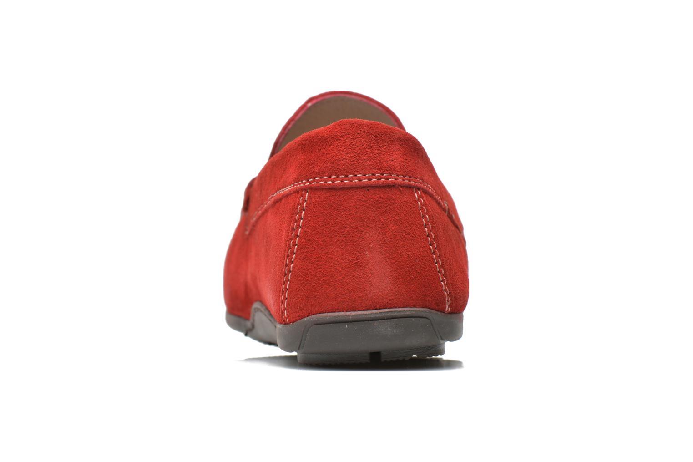 Loafers André Lorient 2 Röd Bild från höger sidan