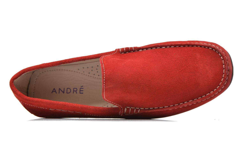 Loafers André Lorient 2 Röd bild från vänster sidan