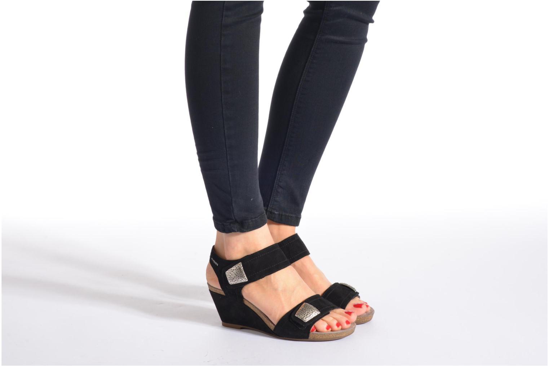 Sandales et nu-pieds Mephisto JACKIE Noir vue bas / vue portée sac