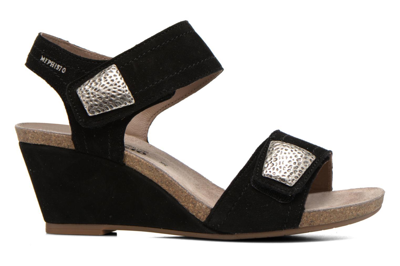 Sandales et nu-pieds Mephisto JACKIE Noir vue derrière
