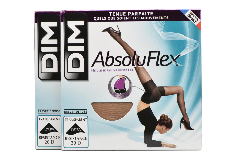 Panty medias ABSOLU FLEX TRANSPARENT Pack de 2 2F4 CARAMEL