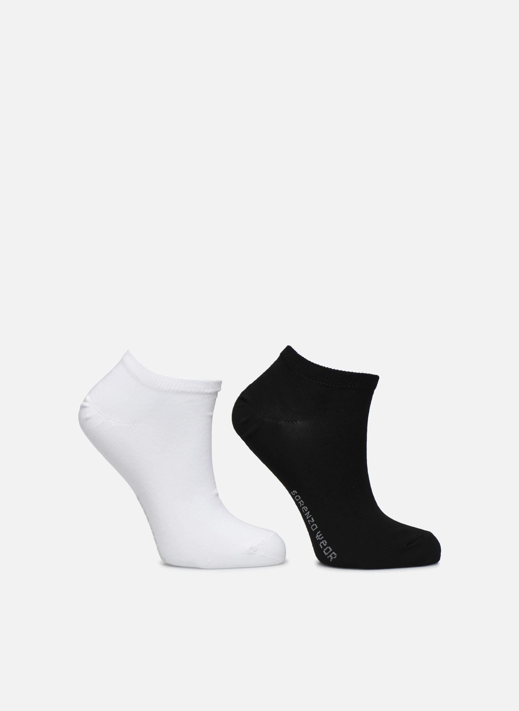 Chaussettes invisibles Femme unies Pack de 2 Coton