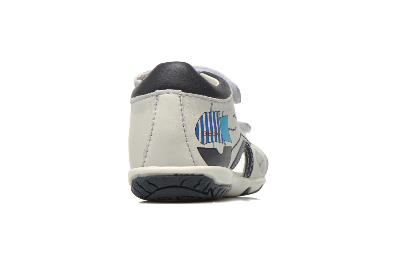 Sandales et nu-pieds Geox B Sandal Elba Boy B52L8B Blanc vue droite