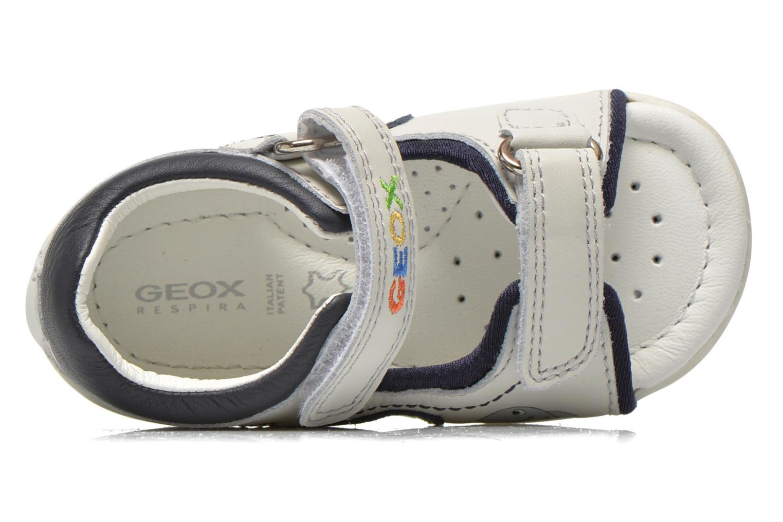 Sandales et nu-pieds Geox B Sandal Elba Boy B52L8B Blanc vue gauche