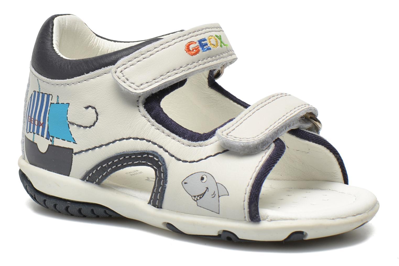 Sandales et nu-pieds Geox B Sandal Elba Boy B52L8B Blanc vue détail/paire